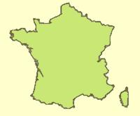 Carte des zones de culture de la plante